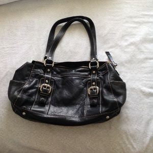 Fossil handbag, black soft leather